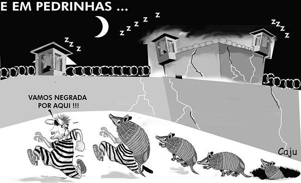 DEZ PRESOS FUGIRAM DO COMPLEXO PENITENCIÁRIO DE PEDRINHAS.