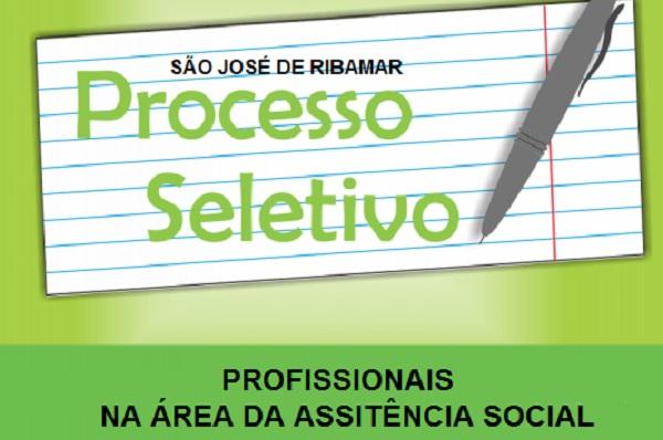 PREFEITURA DE S.J. RIBAMAR ABRE SELETIVO PARA ÁREA DE ASSISTÊNCIA SOCIAL.