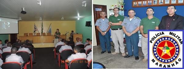 Palestra no Curso de Formação de Oficiais (CFO) da Polícia Militar do Maranhão