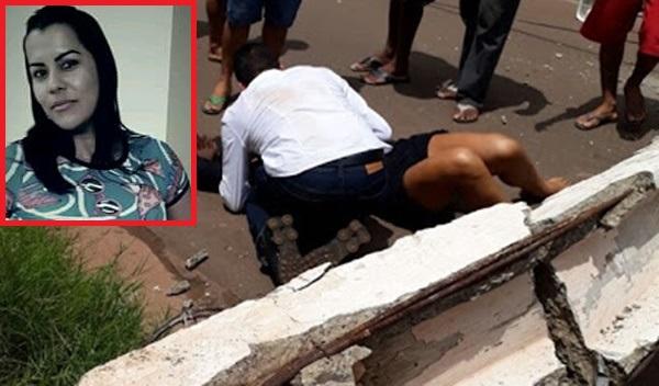 Mulher morre após ser atingida por poste que caiu na cidade de Timbiras.