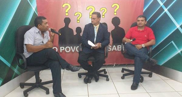 APRESENTADOR DO PROGRAMA, Willame Anceles (gestor de saúde da regional de Rosário) e Antonio da Luz (entomologista).
