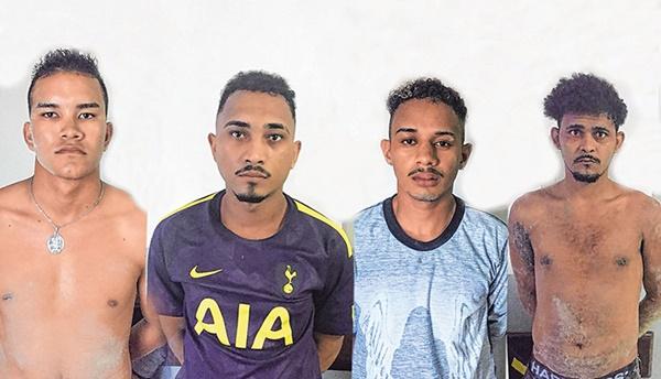 Soldado da Aeronáutica é preso com mais três comparsa que assaltaram posto no Araçagy.