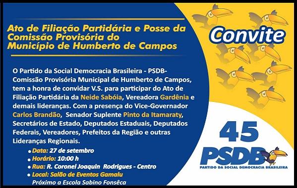 ATO DE FILIAÇÃO EM HUMBERTO DE CAMPOS.