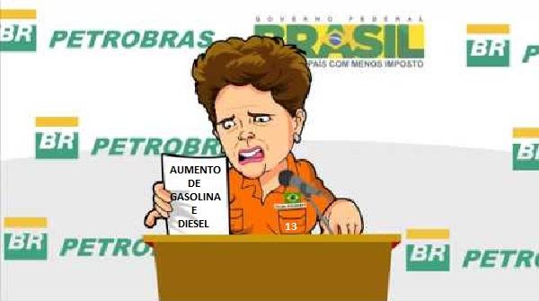 PETROBRAS AUMENTA PREÇO DA GASOLINA EM 3% E DO DIESEL EM 5%. width=