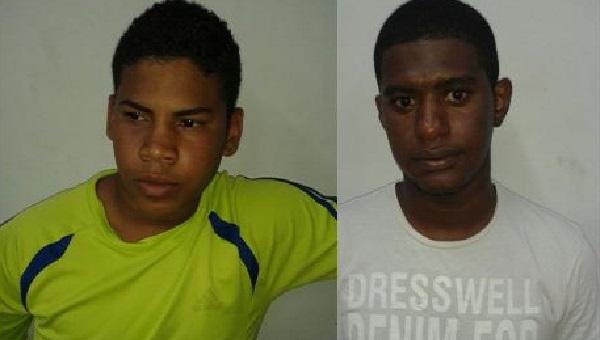 Alex Felipe Coelho da Cruz Santos, de 20 anos, e José Ribamar de Jesus Júnior de 23 anos.