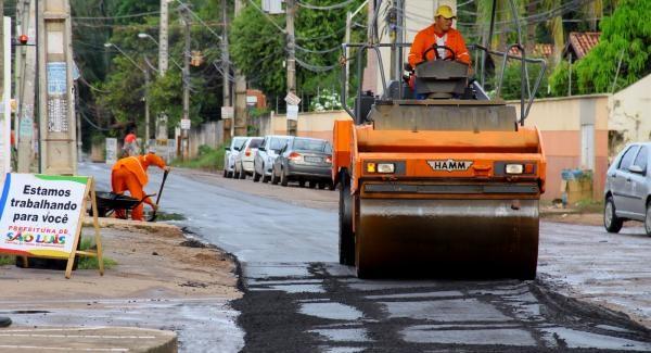 Ampliação e serviços de reurbanização em vias da capital.