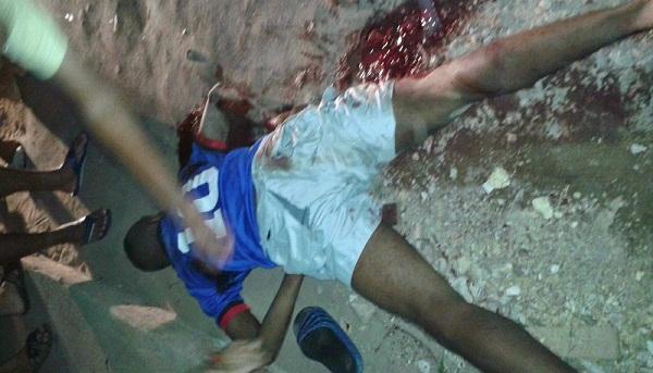 Assassino morto na troca de tiros.