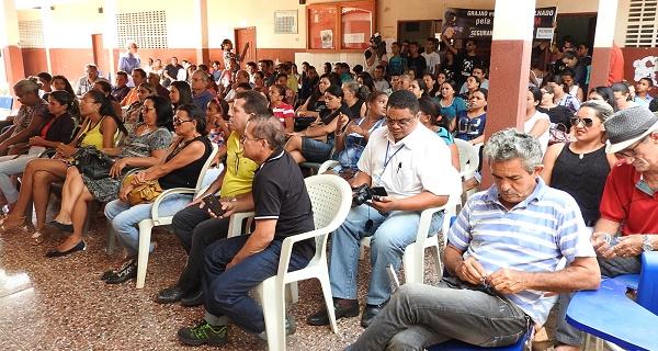 Ato público de entrega da obra do Programa Mais Asfalto em Grajaú.