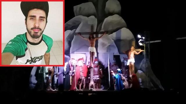 Ator morre após cair de andaime durante preparação da Paixão de Cristo em Pedreiras.