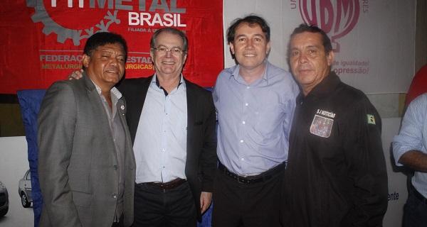 BETINHO, DEPUTADO LEVI, SUPLENTE DE SENADOR PAULO MATOS E STENIO JHONNY.