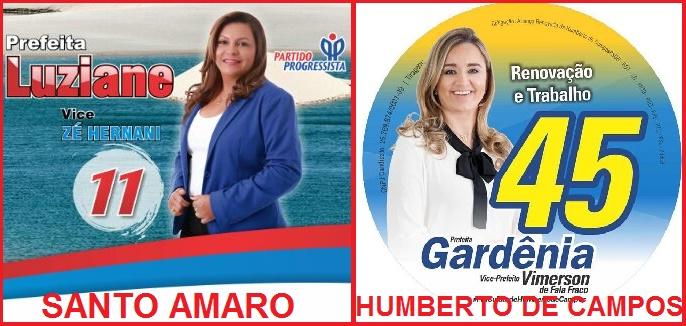 CANDIDATA LUZIANE DE SANTO AMARO E CANDIDATA GARDÊNIA SABÓIA DE HUMBERTO DE CAMPOS.