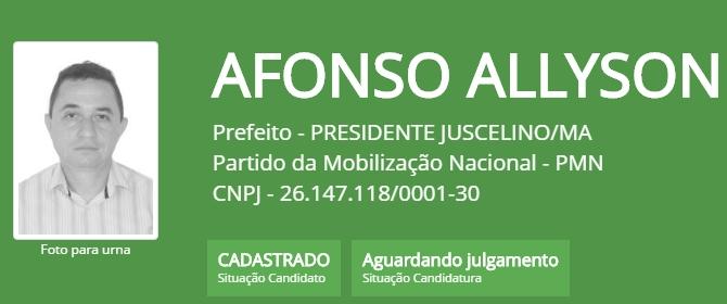 CANDIDATO AFONSO ALLYSON.