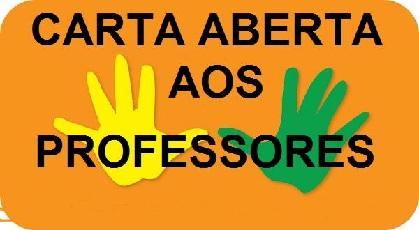 CARTA ABERTA AOS EDUCADORES.