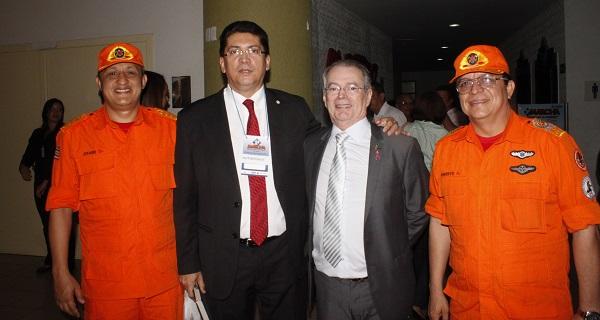 CEL JOABE, SEC. JEFFERSON PORTELA, DEPUTADO LEVI E O CEL BM ROBERTO.