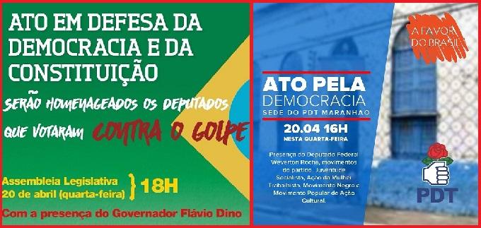 CONVITE DO PCdoB E DO PDT.