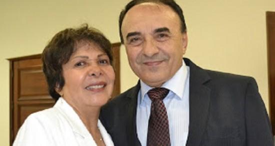 Conceição Madeira ao lado do marido, prefeito de Imperatriz.