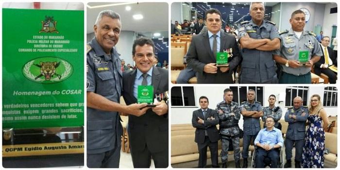 Coronel Egídio condecora policiais em Bacabal com medalha das Nações Unidas.