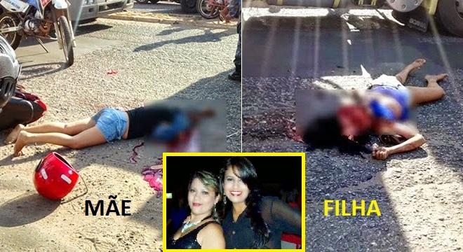 Corpo de Nayane Vieira (mãe). e Juliana Vieira (filha).