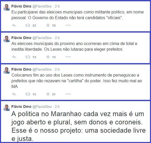DECLARAÇÃO DE FLÁVIO DINO.
