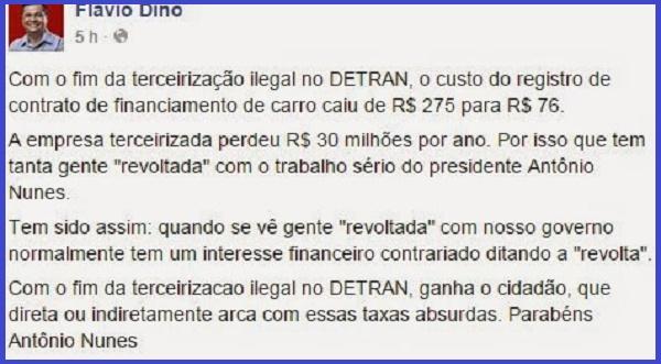 DECLARAÇÕES DO GOVERNO FLÁVIO DINO.
