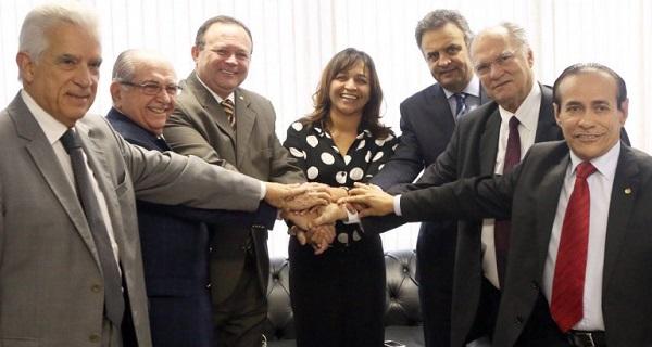 DEPUTADA ELIZIANE GAMA RECEBENDO APOIO DO PSDB.