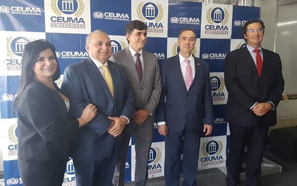 Fábio Braga participa de evento em comemoração aos 28 anos do Ceuma com a presença do Ministro do STF Luís Roberto Barroso.