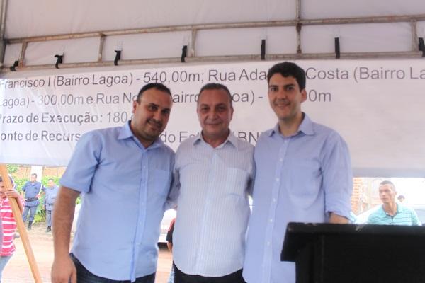 DIRETOR DA UPA WALLAS, LUÍS FERNANDO E O DEPUTADO EDUARDO BRAIDE.