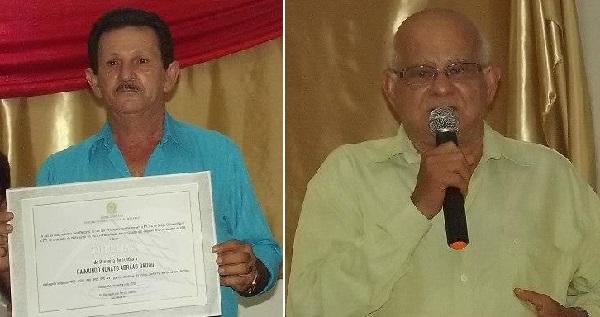 prefeito de Tutoia, Raimundo Nonato e Abraão Baquil, mais conhecido como Diringa, e o vice-prefeito de Tutoia, João Batista Araújo da Silva