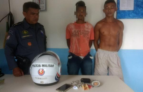 Jovens são presos com droga em Presidente Vargas.