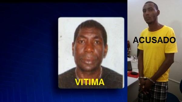 """Morador de rua Ivaldo Canário de Sousa, """"Chitara"""" e o Daniel dos Santos Nogueira, 31 anos. acusado."""