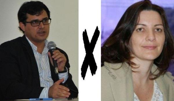 Delegado Cleopas Isaías Santos e a Promotora Karina Freitas.
