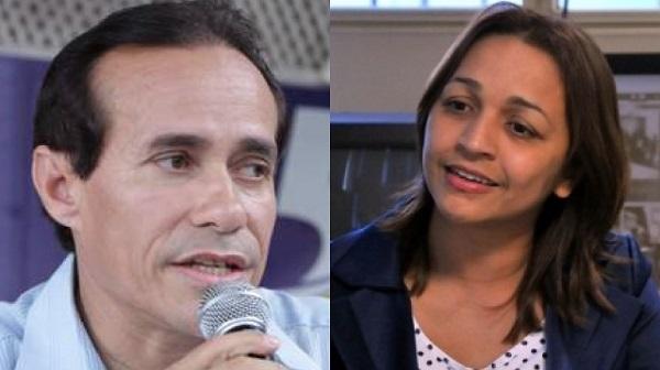 Deputado Federal, Pinto Itamaraty e a deputada e pré-candidata à prefeitura de São Luís, Eliziane Gama.