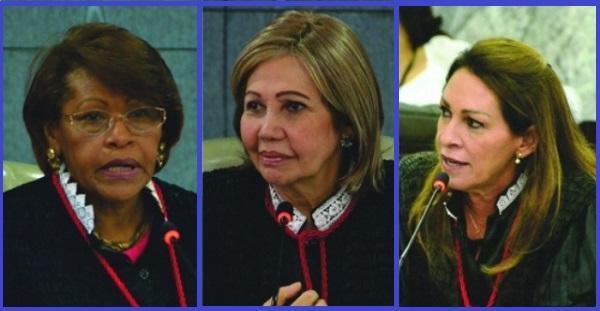 Desembargadoras Anildes Cruz, Nelma Sarney e Cleonice Freire.