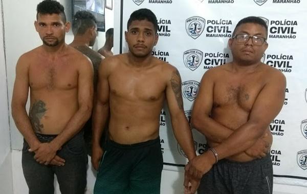 Trio de assaltantes foram presos na cidade de Santa Rita/MA.