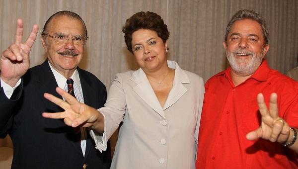 SARNEY, DILMA E LULA.