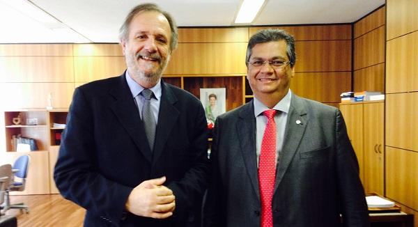 Durante a agenda em Brasília, o governador também se reuniu com o ministro Miguel Rossetto.