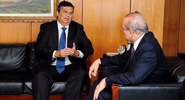 durante conversa com o ministro chefe o governador Flavio Dino.