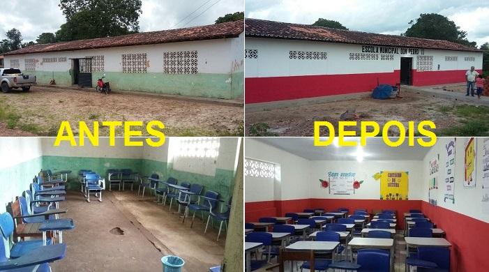 Prefeito Tonhão de Cachoeira Grande, entrega escola totalmente reformada no povoado Santo Antonio.