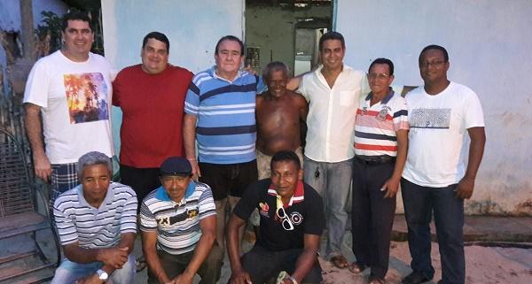 EX-PREFEITO RIBAMAR LOPES, SIDRACK FEITOSA, FABIANO LOPES E DIVERSAS LIDERANÇAS. EM SANTA CICILIA.