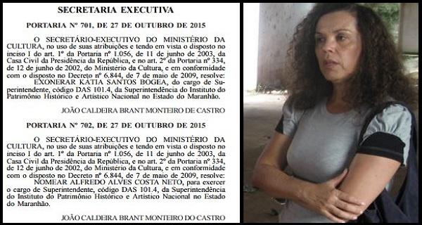 Exoneração de Kátia Bogea.