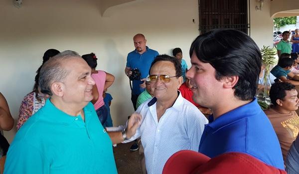 Em Chapadinha, Fábio Braga recebe apoio do ex-prefeito e líder político Isaías Fortes.
