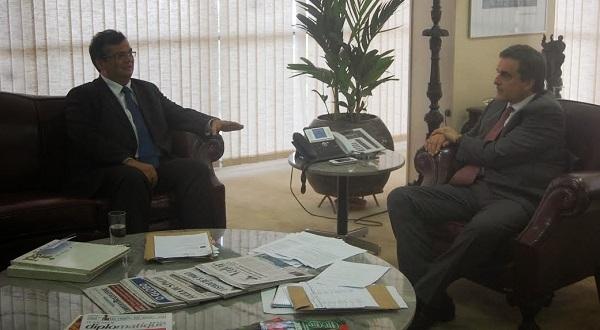 governador do Maranhão Flávio Dino e o ministro da Justiça, José Eduardo Cardozo.