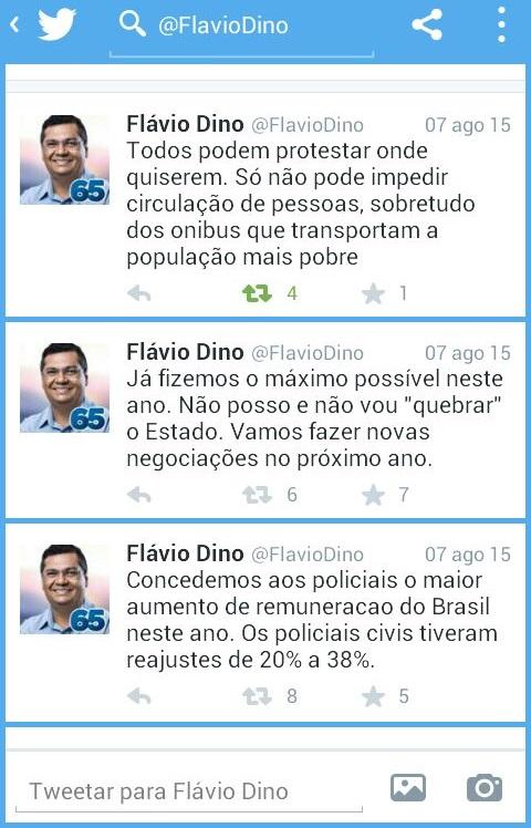 FLÁVIO DINO VIA TWITTER.