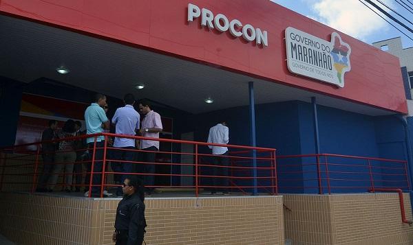 Fachada da nova sede do Procon, localizada no bairro de São Francisco.