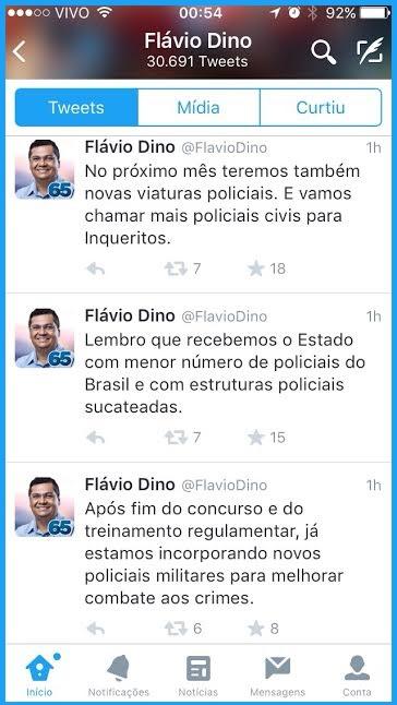 Flávio Dino sobre a segurança.