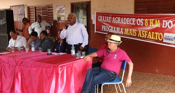 Secretário Gerson expondo os planos e ações do governo do Estado.
