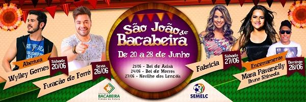 SÃO JOÃO EM BACABEIRA 2015.