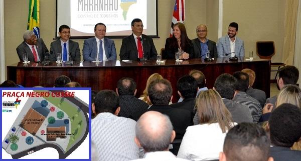 GOVERNADOR FLÁVIO DINO ASSINA ORDEM DE SERVIÇO PARA A CONSTRUÇÃO DA PRAÇA NEGRO COSME.