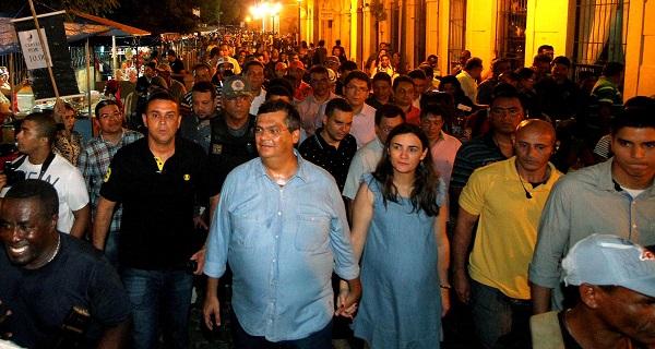 GOVERNADOR FLÁVIO DINO E A PRIMEIRA DAMA NO REVIVER.
