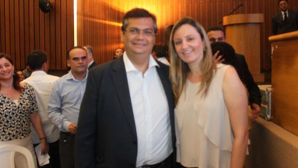 GOVERNADOR FLÁVIO DINO E VEREADORA GARDÊNIA.